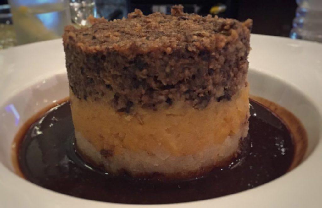 Haggis. Comida típica en Edimburgo.