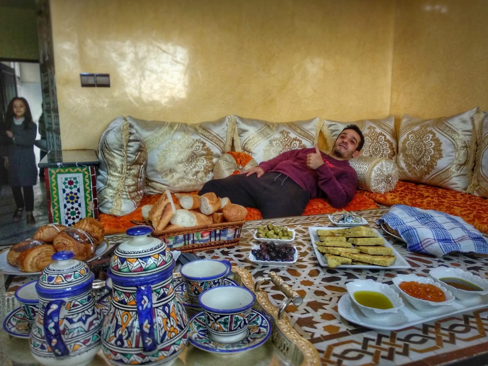 Comida típica marroquí - Desayuno marroquí