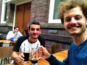 Cerveza en Amsterdam con Jasper
