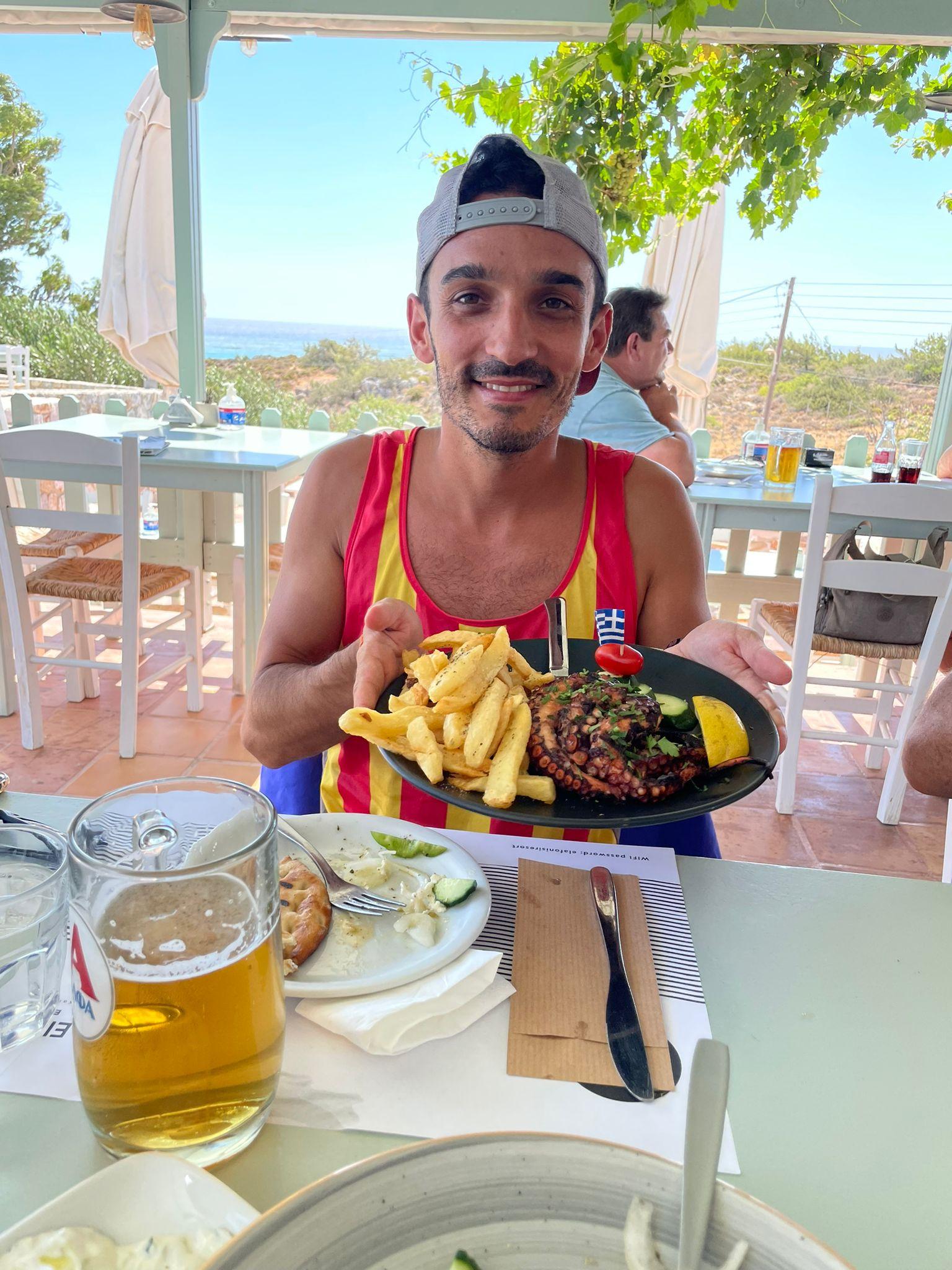 Qué comer en Grecia - Pulpo